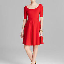 Kate Spade New York Jada Dress Lacquer Red Scoop Neck Elbow Sleeves Size 6 Photo