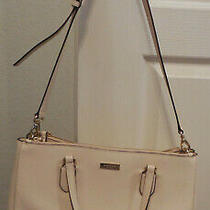 Kate Spade New York Large Crosshatch Leather Satchel/tote Blush Pink Pre-Owned Photo