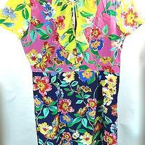 Kate Spade New York Short Sleeve Ruffled Floral Print Multi Color Dress Size 0 Photo