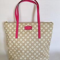 Kate Spade New York Sweet Spade Pammy Handbag Purse Tote Cream Pink New Nwt  Photo
