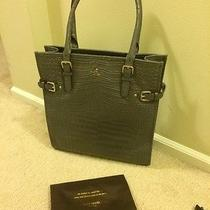 Kate Spade New York Vanston Croc Jackson Handbag Bag Tote Smoke Stack Nwt 528 Photo