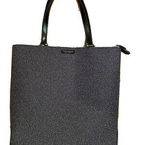 Kate Spade New York Wool and Leather Shoulder Bag Tote - Black Photo