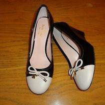 Kate Spade Ny Kacey Patent Leather Wedge Heel Pumps Shoes Black/shell Nwob Sz 8 Photo
