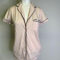Kate Spade Ny Xs Light Pink Button Down Pj Sleep Shirt Make Me Blush Top Pajamas Photo