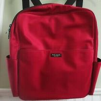 Kate Spade  Nylon Medium Backpack Tote Bag Claret Red Excellent Barely Used Photo