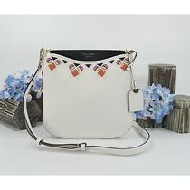 Kate Spade Optic White Navy Margaux Large Jewel Messenger Crossbody Bag Nwt Photo