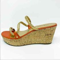 Kate Spade Orange/gold Bali Wedge 8.5 Photo