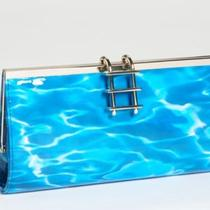 Kate Spade Pool Party Clutch Water Print Bag Nwt Photo