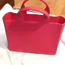Kate Spade Rare Authentic Hot Pink Rubber Tote Bag -Unique Photo