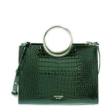 Kate Spade Sam Croc Embossed Bracelet Medium Satchel Bag Deep Evergreen Nwt 358 Photo