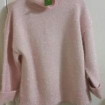 Kate Spade Shimmer Turtleneck Sweater- Blush -Large-Nwt Photo