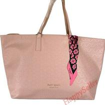 Kate Spade Tote Pink Blush Faux Leather Bag Handbag Travel Shopper New Photo