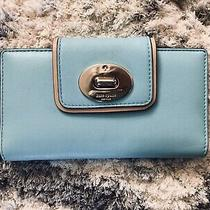 Kate Spade Turnlock Stacy Hampton Road Pool  Wallet Robins Egg/tiffany Blue Nwt Photo