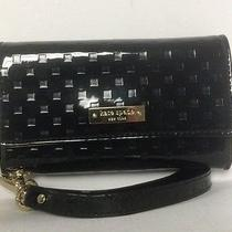 Kate Spade Wallet Wristlet for Iphone 4 Black Patent Leather New Photo