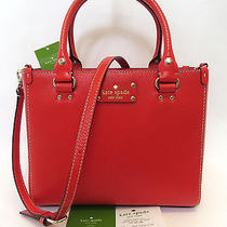 Kate Spade Wellesley Small Quinn Shoulder Bag Xbody Lacquered Red Nwt Gift Recpt Photo