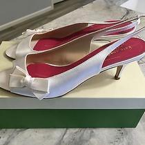 Kate Spade White/ivory Satin Elsie Wedding Shoes Size 10 Nib With 2.5 Inch Heel Photo