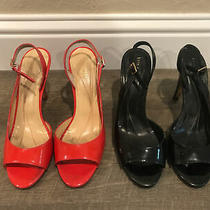 Kate Spade Women Black and Pink Open Toe High Heels Size 9.5 Made in Italy Photo