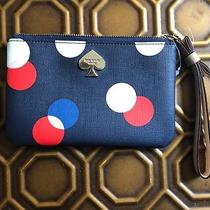 Kate Spade Wristlet. New Never Used. Multi Color With Navy Background. Photo