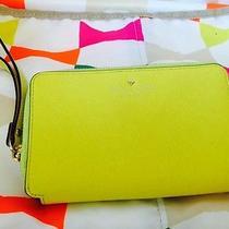 Kate Spade Yellow Travel Wallet Wrist Let Photo