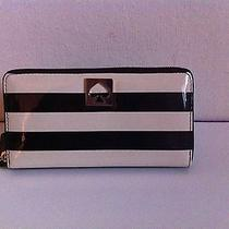 Kate Spade York Street Neda Zip Around Wallet  Patent Stripe  New/nwt Msrp158 Photo