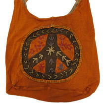 Kathmandu Nepal Peace Sign Embroidered Bag Purse Photo
