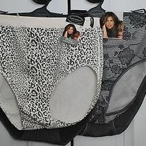 Kathy Ireland Women's Panties Set Seamless Briefs Leopard/charcoal Size 1x New Photo