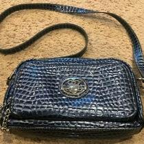 Kathy Van Zealand Blue With Silver Shoulder Bag Pocketbook Purse Photo