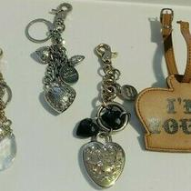 Kathy Van Zeeland   3 Heart Key Chain & Crown Faux Leather Luggage Tag i'm Yours Photo
