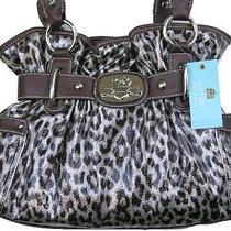 Kathy Van Zeeland Chrome Leopard Dazzling Daisy Bag Photo