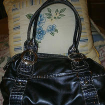 Kathy Van Zeeland Deep Violet Blue Purse Handbag Clean & Excellent Photo