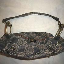 Kathy Van Zeeland Embellished Denim Handbag Bling  Very Unique  Rare Photo