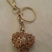 Kathy Van Zeeland Handbag Charm Heart Key Heart Link Chain Photo