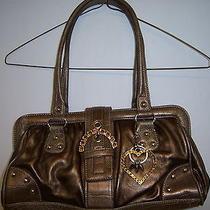 Kathy Van Zeeland Handbag  Gold  Metallic With Metal Accents With Amber Stones Photo