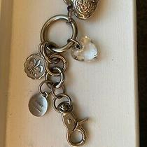 Kathy Van Zeeland Handbag Key Chain/ring/clasp Charms Silver Puffer Heart Photo