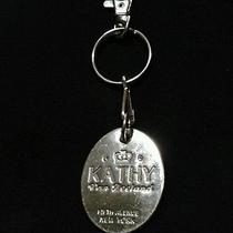 Kathy Van Zeeland Key Chain Key Fob Chrome Crown Key Ring Photo