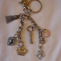 Kathy Van Zeeland Key Ring Charm Silver Fleur De Lis Crown Handbag Free Shipping Photo