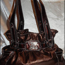 Kathy Van Zeeland Metallic Brown Shoulder Bag Nwot With Free Gift Photo