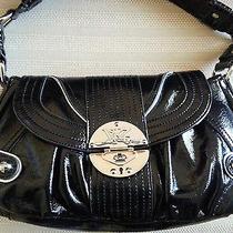 Kathy Van Zeeland Off the Hinge Flap Handbag Black Nwt Photo