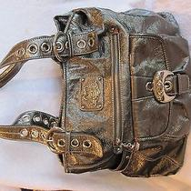 Kathy Van Zeeland Purse Gun Metal Metallic Photo