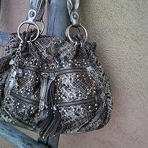 Kathy Van Zeeland Shoulder Bag Snakeskin & Key Ring/chain Photo