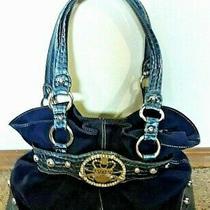 Kathy Van Zeeland Velvet & Leather Purse Handbag Satchel Shoulder Bag Photo
