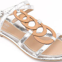Kathy Van Zeeland Women Shoes Jerry Gladiator Sandal 11 Silver New in Box  Photo