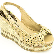 Kathy Van Zeeland Women Shoes Sakura Espadrille Wedge 10 Natural New in Box  Photo