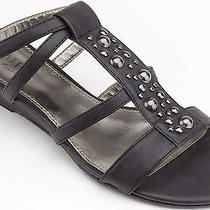 Kathy Van Zeeland Women Shoes Sheer Gladiator Sandal 5.5 Black New in Box  Photo