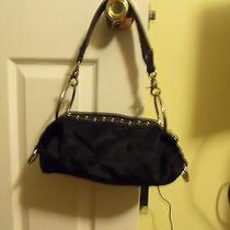 Kathy Vanzeeland Small Black Purse With Silver Rings Pre-Owned Photo