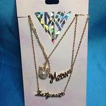 Katy Perry Prism Collection Set of Three Gold Tone Necklaces New Photo