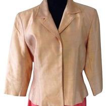 Kay Unger 100% Silk Taffeta Evening Jacket/blazer Size 12 Photo