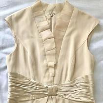 Kay Unger - Blush/champagne Cocktail Dress - 100% Silk - Sz 8 Photo