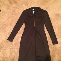 Kay Unger Brand New Ponte Military Dress Size 4 Photo