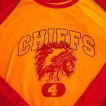 Kc Chiefs Mens Long Sleeve Shirt Express Raglan Size Xl Nfl Football Nwot New  Photo